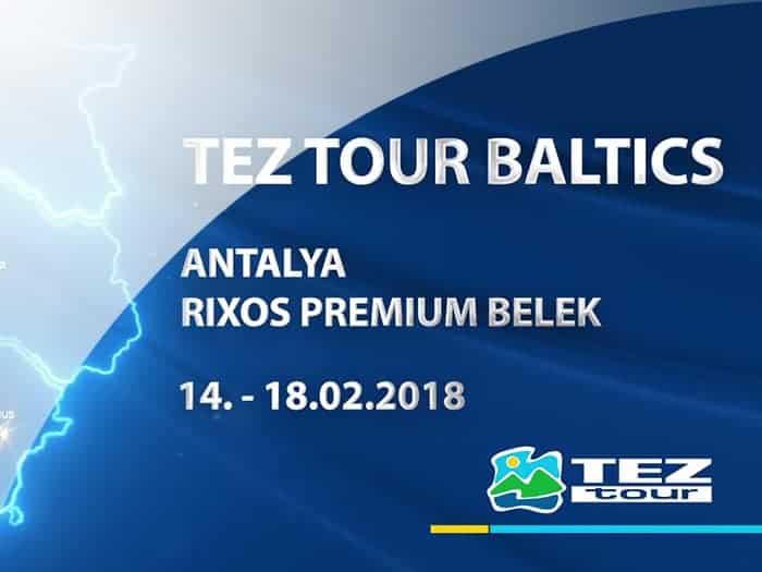 Filma par tūrisma operatora Tez Tour Baltic svinībām Turcijā